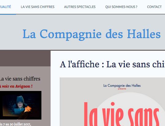 lacompagniedeshalles.fr / théâtre